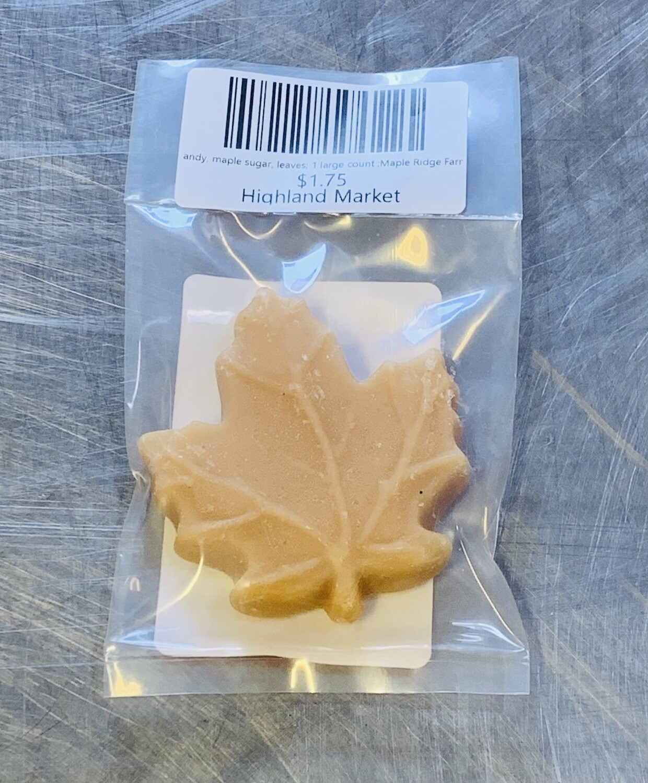 candy, maple sugar, leaves; 1 large count ;Maple Ridge Farm