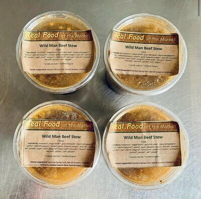 stew, wild man beef, frozen; 32oz; Real Foods