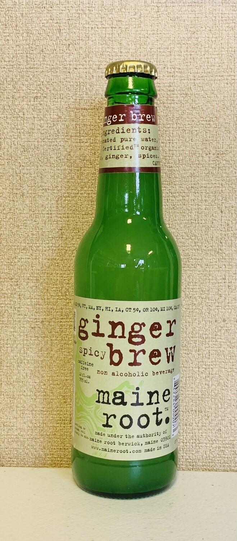 soda, ginger beer, organic, fair-trade;  12 ounce; each; Maine Root