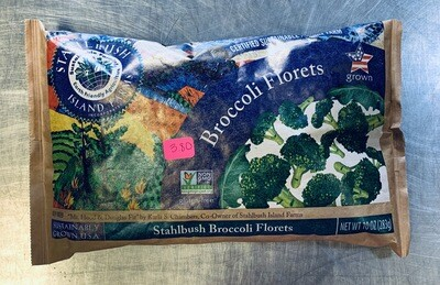 broccoli, florets, frozen; each; Stahlbush Island Farms
