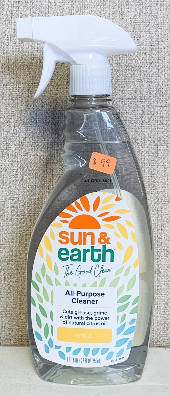all purpose cleaner, 22oz; Sun & Earth