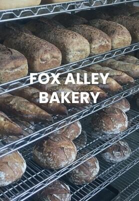 bread, frozen, rye, sourdough;  loaf; Fox Alley Bakery