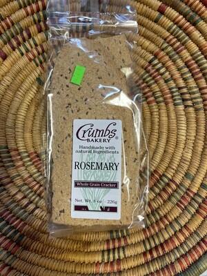 crackers, rosemary, 8 ounce; each; Crumb Bakery