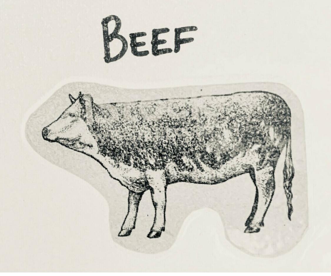 beef, top round roast; Watermark Farm