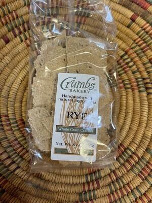 crackers, rye, 8 ounce; each; Crumb Bakery