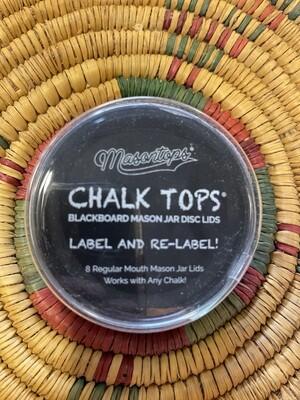 chalk tops, mason jar lid, 8 wide mouth