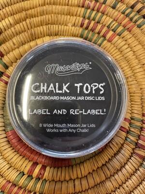 chalk tops, mason jar lid, 8 regular