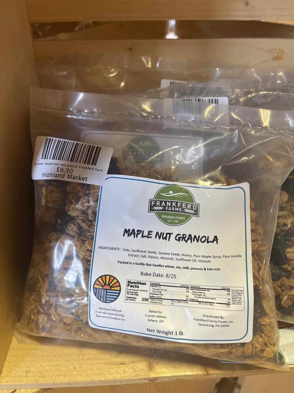 granola, maple nut; one pound; Frankferd Farm