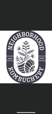 kombucha,on tap, 12 oz cup, Neighboorhood Kombuchery