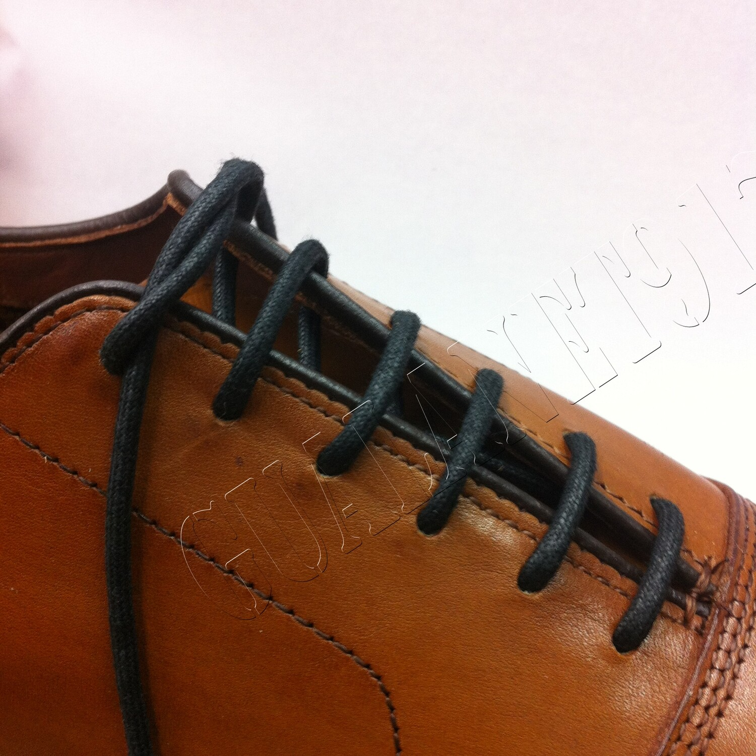 Round Waxed Cotton Dress Shoelaces