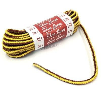 TAN Hard Bootlaces Strong Work Boot Shoelaces