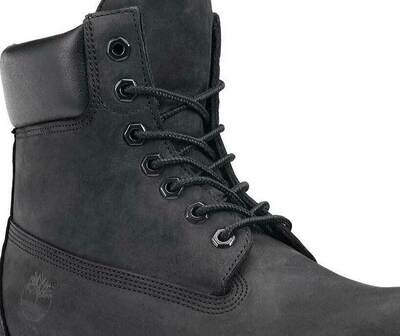 BLACK Hard Bootlaces Strong Work Boot Shoelaces