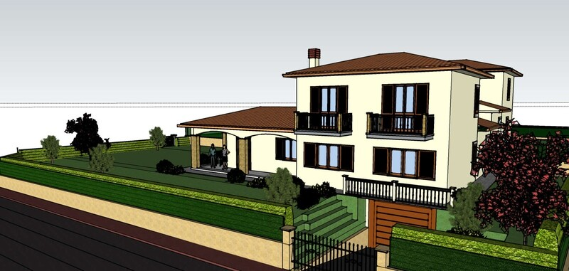 UMBERTIDE. Villa indipendente di nuova realizzazione in zona residenziale e panoramica