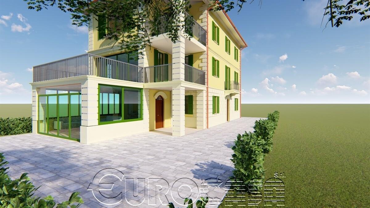 UMBERTIDE. Villa in stile Liberty di 335 mq con progetto di integrale ristrutturazione e divisione in tre abitazioni