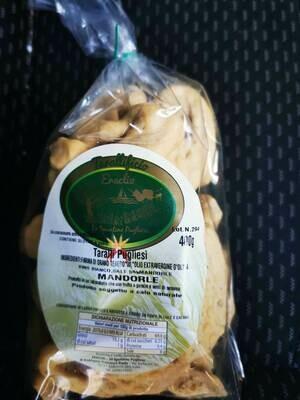 Taralli tradizionali alle Mandorle (busta 400 gr)