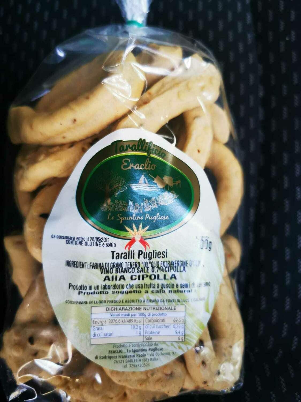 Taralli tradizionali alla Cipolla (busta 400 gr)
