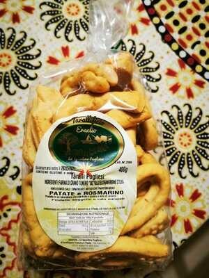 Taralli tradizionali al gusto Patate e Rosmarino (busta 400 gr)
