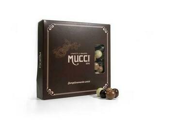 Dragées al Liquore Assortiti: Limoncello, Mandarino, Irish Cream, Rhum, Sambuca - Box 500gr.