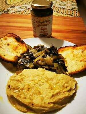 Favetta e Cicorie cotte e pronte da mangiare (porzione x 2 persone)