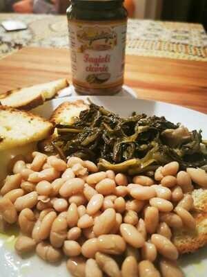 Fagioli e Cicorie cotte e pronte da mangiare (porzione x 2 persone)