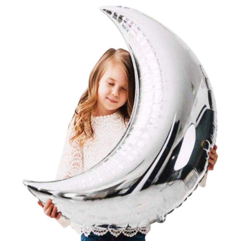 """36"""" Silver Moon Foil Balloon"""