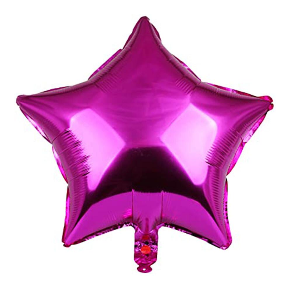 "18"" Magenta Star Foil Balloon"