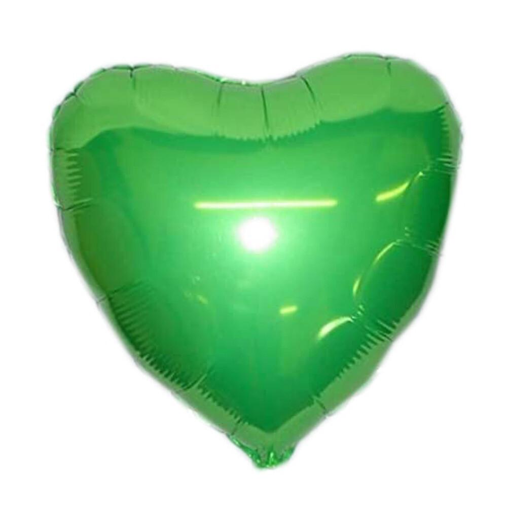 "18"" Lime Green Heart Foil Balloon"