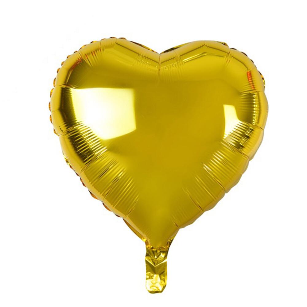 """18"""" Gold Heart Foil Balloon"""