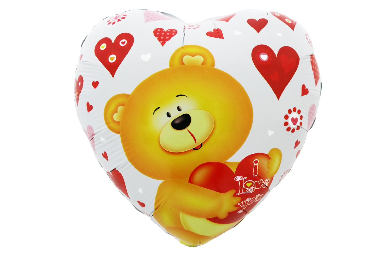 "18"" Valentine I Love You Bear Foil Balloon"