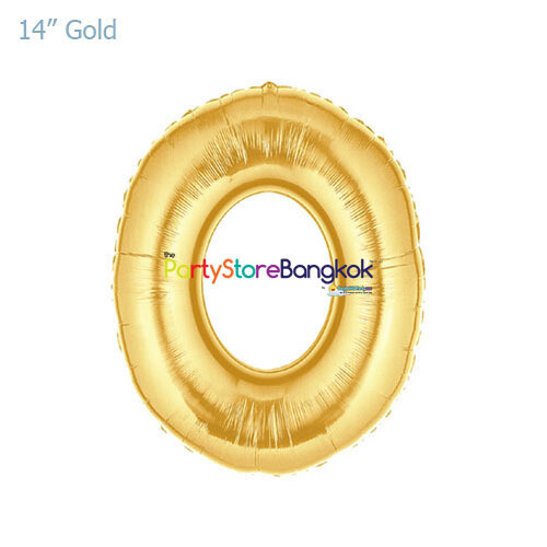 "14"" Gold Number Foil Balloon"