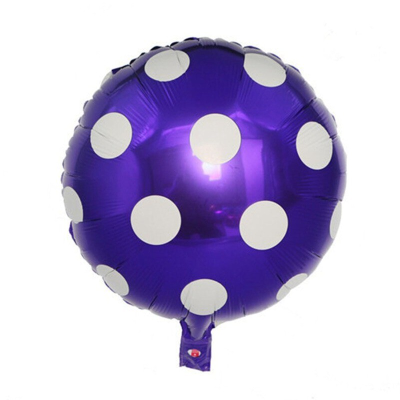 Purple Round Polka Dots Foil Balloon