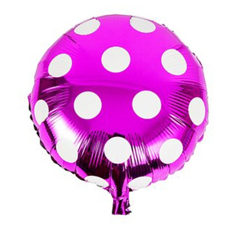 Hot Pink Round Polka Dots Foil Balloon