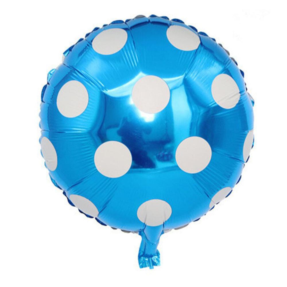 Blue Round Polka Dots Foil Balloon