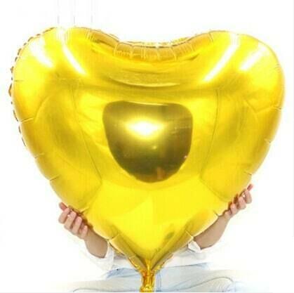 """36"""" Gold Heart Shape Foil Balloon"""