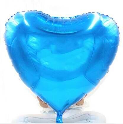 "36""  Sapphire Blue Heart Shape Foil Balloon"