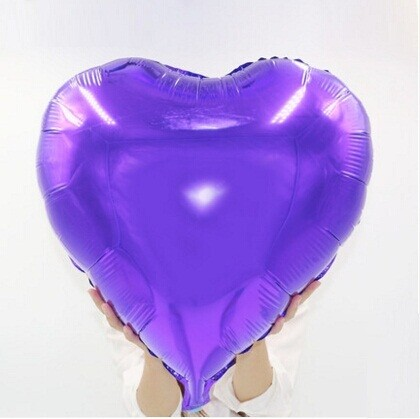 "36""  Purple Heart Shape Foil Balloon"