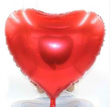 "36""  Red Heart Shape Foil Balloon"