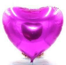 "36""  Magenta Heart Shape Foil Balloon"