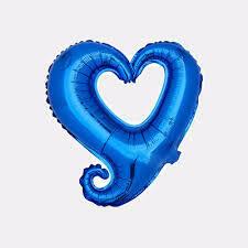 """40"""" Sapphire Blue Hook Hollow Shape Foil Balloon"""