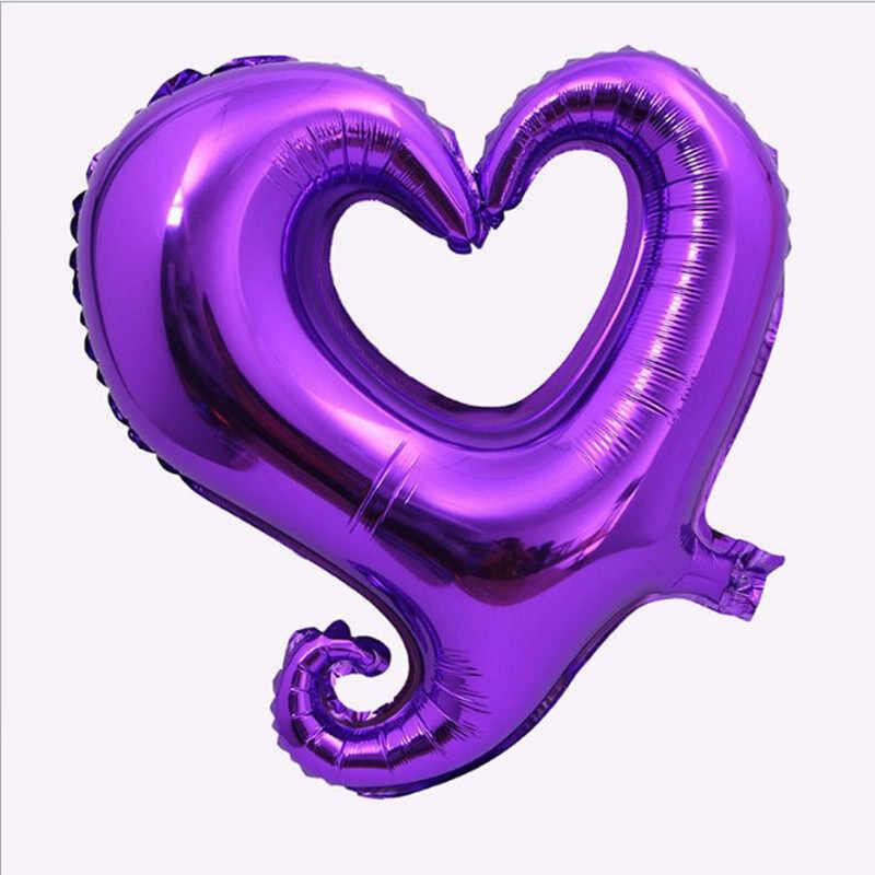 """40"""" Purple Hook Hollow Shape Foil Balloon"""