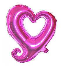 """40"""" Magenta Hook Hollow Shape Foil Balloon"""