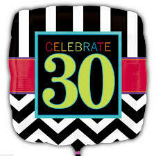 Celebrate 30 Balloon Foil Balloon