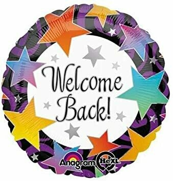 Welcome Back Stars Foil Balloon