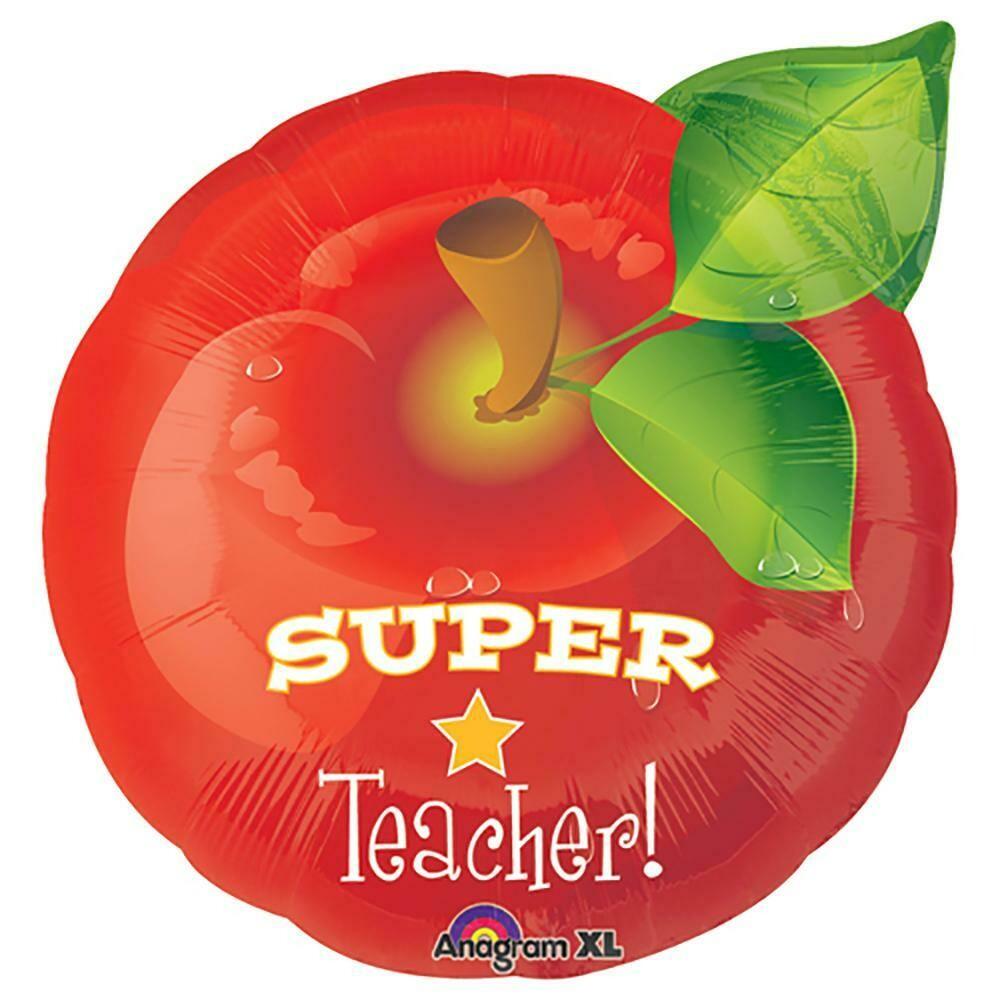 Super Teacher Apple Foil Balloon