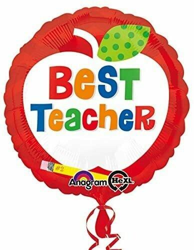 Best Teacher Apple Foil Balloon