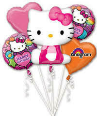 Pink Hello Kitty Foil Balloon Bouquet
