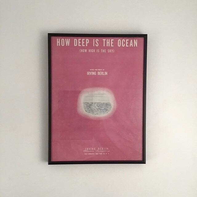 """How Deep Is The Ocean"" Framed Song Sheet Cover"