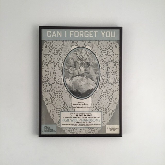 """""""Can I Forget You"""" Framed Song Sheet Cover"""