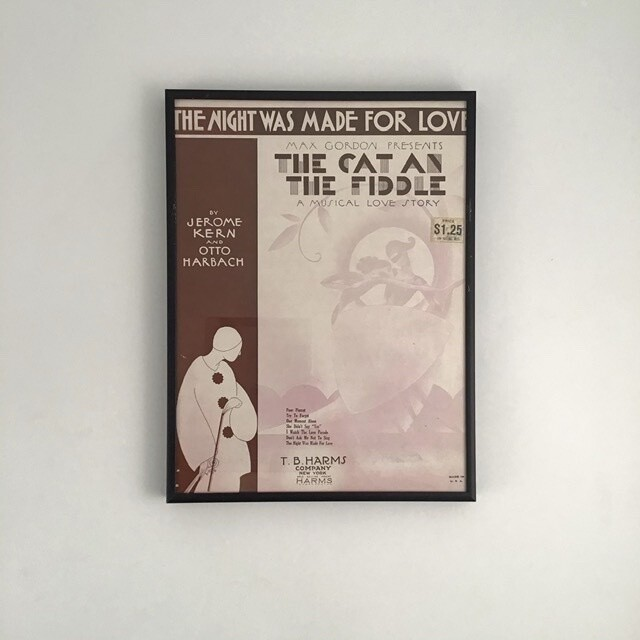 """The Night Was Made for Love"" Framed Song Sheet Cover"