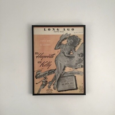 """Long Ago (And Far Away)"" Framed Song Sheet Cover"